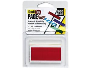Redi-Tag 20022 Removable/Reusable Page Flags, Red, 300/Pack