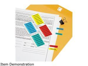 "Redi-Tag 72020 Mini Arrow Page Flags, ""Sign Here"", Blue/Mint/Red/Yellow, 126 Flags/Pack"