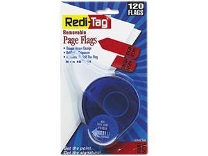 """Redi-Tag 81054 Arrow Message Page Flags in Dispenser, """"Sign Here"""", Red, 120/Dispenser"""