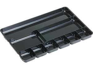 Rubbermaid 45706 Regeneration Nine-Section Drawer Organizer, Plastic, Black