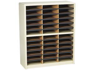 Safco 7121SA Steel/Fiberboard Literature Sorter, 36 Sections, 32 1/4 x 13 1/2 x 38, Sand