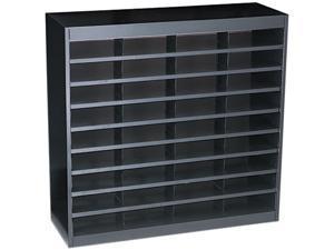 Safco 9221BLR Steel/Fiberboard E-Z Stor Sorter, 36 Sections, 37 1/2 x 12 3/4 x 36 1/2, Black