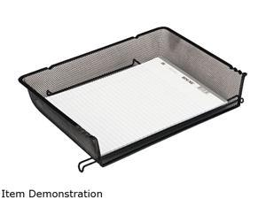 Rolodex 62555 Nestable Mesh Stacking Side Load Letter Tray, Wire, Black