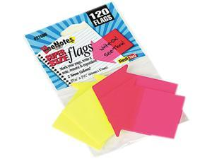 Redi-Tag 21095 SeeNotes Transparent Film Arrow Flags, Neon Pink/YW, 60 Flags/Pad, 2 Pads/Pack