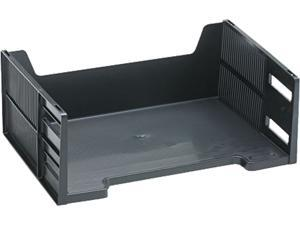 Rubbermaid 17601 Stackable High-Capacity Side Load Letter Tray, Polystyrene, Ebony