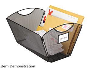 Safco 2163BL Onyx Mesh Desktop Tub File Storage Box, Legal, Black