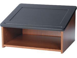 "Safco 8916MO Tabletop Lectern - Medium Oak - Wood - 24""w x 18 1/2""d x 13 3/4""h - 27 lbs"