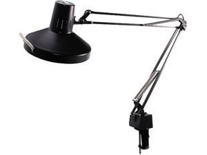 Ledu L445BK Three-Way Incandescent/Fluorescent Clamp-On Lamp, 40 Inch Reach, Black