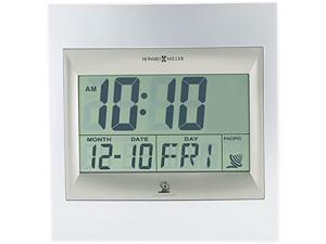 Howard Miller 625-236 Radio Control TechTime II LCD Wall/Table Alarm Clock, Silver