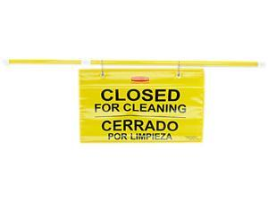 Rubbermaid                               Site Safety Hanging Sign, 50w x 1d x 13h, Multi-Lingual, Yellow
