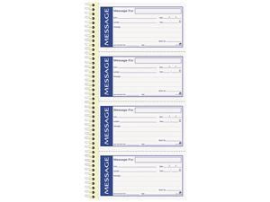 Adams SC1153WS Write 'n Stick Phone Message Pad, 5-1/4 x 2-3/4, Two-Part Carbonless, 200 Forms