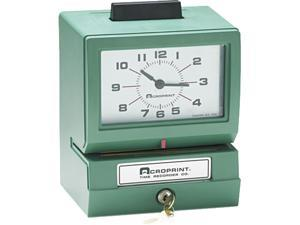 Acroprint 01-1070-40A Model 125 Analog Manual Print Time Clock with Date/0-23 Hours/Minutes