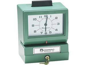 Acroprint 01-1070-411 Model 125 Analog Manual Print Time Clock with Month/Date/0-12 Hours/Minutes