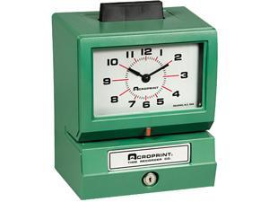 Acroprint 01-1070-413 Model 125 Analog Manual Print Time Clock with Month/Date/0-23 Hours/Minutes
