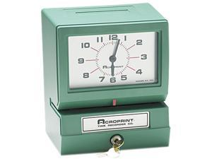 Acroprint 01-2070-400 Model 150 Analog Automatic Print Time Clock with Day/1-12 Hours/Minutes