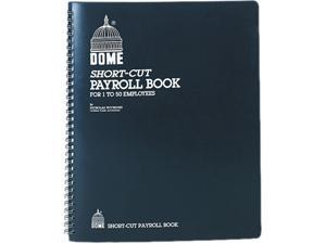 Dome 650 Payroll Record, Single Entry System, Blue Vinyl Cover, 8 3/4 x11 1/4 Pages