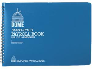 Dome 710 Simplified Payroll Record, Light Blue Vinyl Cover, 7 1/2 x 10 1/2 Pages