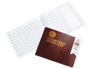 Dome 880 Notary Public Record, Burgundy Cover, 60 Pages, 8 1/2 x 10 1/2