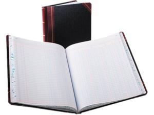 Boorum & Pease 21-150-12 Columnar Book, 12 Column, Black Cover, 150 Pages, 10 3/8 x 8 1/8