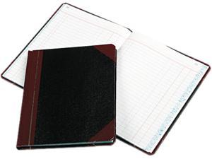 Boorum & Pease 38-150-J Record/Account Book, Journal Rule, Black/Red, 150 Pages, 9 5/8 x 7 5/8