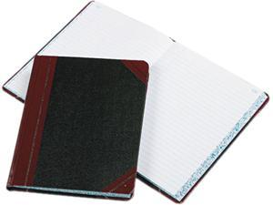 Boorum & Pease 38-300-R Record/Account Book, Record Rule, Black/Red, 300 Pages, 9 5/8 x 7 5/8