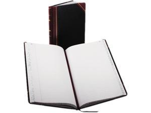 Boorum & Pease 9-150-R Record/Account Book, Black/Red Cover, 150 Pages, 14 1/8 x 8 5/8