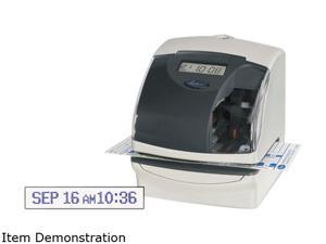 Lathem Time 5000EP 5000E Plus Electronic Time Recorder/Document Stamp/Numbering Machine, Cool Gray