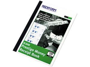 Rediform 8L808 Money Receipt Book, 7 x 2-3/4, Carbonless Triplicate, 100 Sets/Book