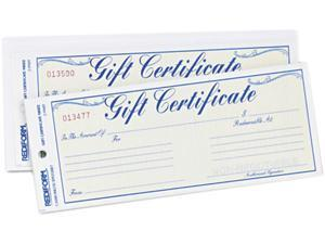 Gift Certificates w/Envelopes, 8-1/2w x 3-2/3h, Blue Border, 25/Pack