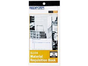 Rediform 1L114 Material Requisition Book, 4-1/4 x 7-7/8, Two-Part Carbonless, 50-Set Book