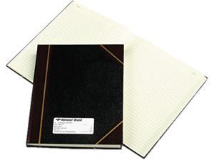 National Brand 56231 Texhide Accounting Book, Black/Burgundy, 300 Green Pages, 10 3/8 x 8 3/8