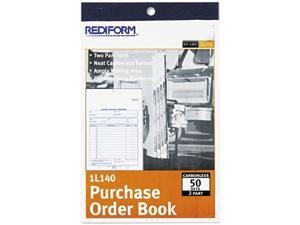 Rediform                                 Purchase Order Book, Bottom Punch, 5-1/2 x 7-7/8, Two-Part Carbonless, 50 Forms