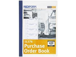 Rediform 1L176 Purchase Order Book, 7 x 2-3/4, Two-Part Carbonless, 400 Sets/Book