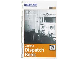 Rediform 23L043 Driver's Dispatch Log Book, 7-1/2 x 2, Two-Part Carbonless, 252 Sets/Book