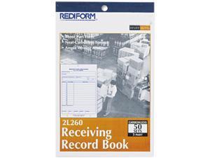 Rediform 2L260 Receiving Record Book, 5-1/2 x 7-7/8, Three-Part Carbonless, 50 Sets/Book