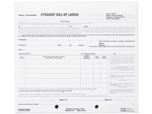 Rediform 44-302 Bill of Lading Short Form, 8-1/2 x 7, Four-Part Carbonless, 250 Forms