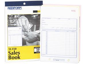 Rediform 5L350 Sales Book, 5-1/2 x 7-7/8, Three-Part Carbonless, 50 Sets/Book