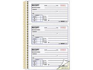 Rediform 8L829 Money Receipt Book, 2-3/4 x 5, Two-Part Carbonless, 225 Sets/Book