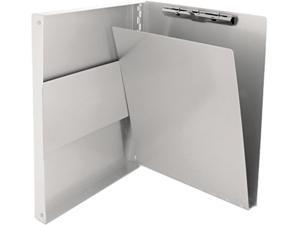 "Saunders 10517 Snapak Aluminum Forms Folder, 1/2"" Capacity, Holds 8-1/2w x 12h, Silver"