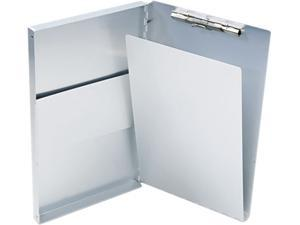 "Saunders 10519 Snapak Aluminum Forms Folder, 1/2"" Capacity, Holds 8-1/2w x 14h, Silver"