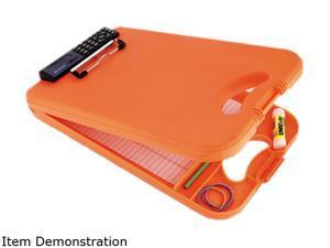 "Saunders 00543 DeskMate II w/Calculator, 1/2"" Capacity, 8-1/2w x 11-3/4h, Orange"