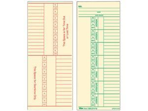 Tops 1260 Time Card for Cincinnati, Named Days, Two-Sided, 3-3/8 x 8-1/4, 500/Box