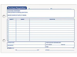 Tops 32431 Purchasing Requisition Pad, 5-1/2 x 8-1/2, 100/Pad, 2/Pack
