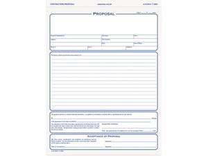 Tops 3850 Snap-Off Proposal Form, 8-1/2 x 11, Three-Part Carbonless, 50 Forms