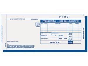 Tops 38538 Credit Card Sales Slip, 7-7/8 x 3-1/4, Three-Part Carbonless, 100 Forms