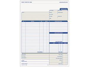 Tops 3866 Snap-Off Job Invoice Form, 8-1/2 x 11, Three-Part Carbonless, 50 Forms