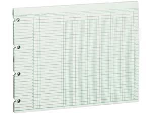 Wilson Jones G10-6 Accounting Sheets, Six Column, 9-1/4 x 11-7/8, 100 Loose Sheets/Pack, Green