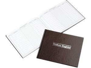 Wilson Jones S490 Visitor Register Book, Red Hardcover, 112 Pages, 8 1/2 x 11 1/2