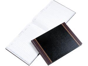 Wilson Jones S491 Detailed Visitor Register Book, Black Cover, 208 Pages, 9 1/2 x 12 1/2