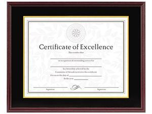DAX Hardwood Document/Certificate Frame 11 X 14, Mahogany 1511TB